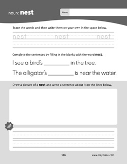 Science Words Practice Workbook Page: Leaf