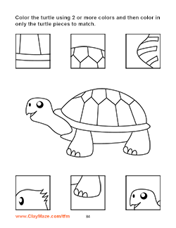 Find the Matching Pieces Children's Book Page