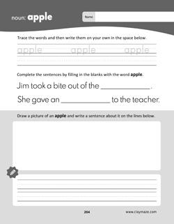 Science Words Practice Workbook Page: Saturn