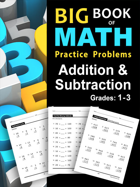 Children's Addition and Subtraction Math Book