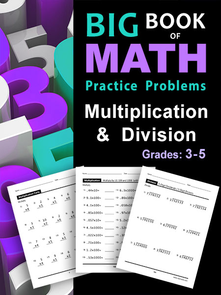 Multiplication and Division Children's Workbook