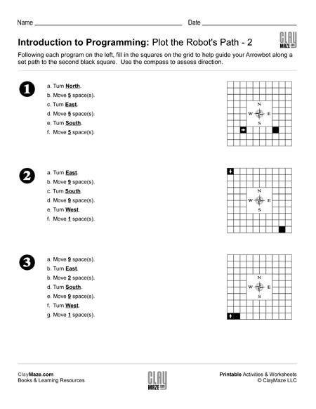 intro programming plot path worksheet
