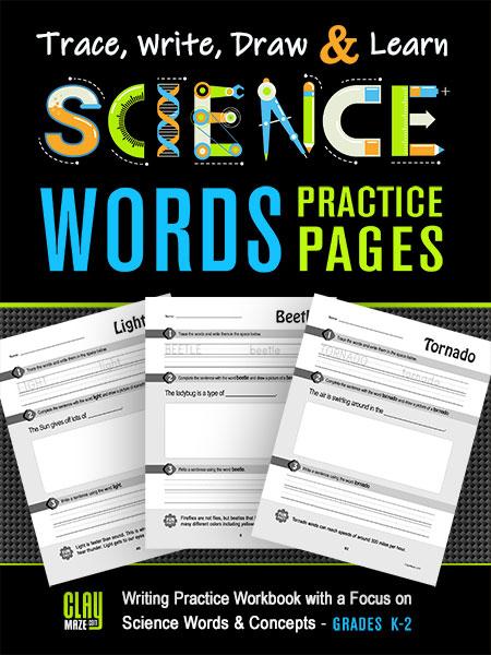 Science Words Stem Practice Workbook