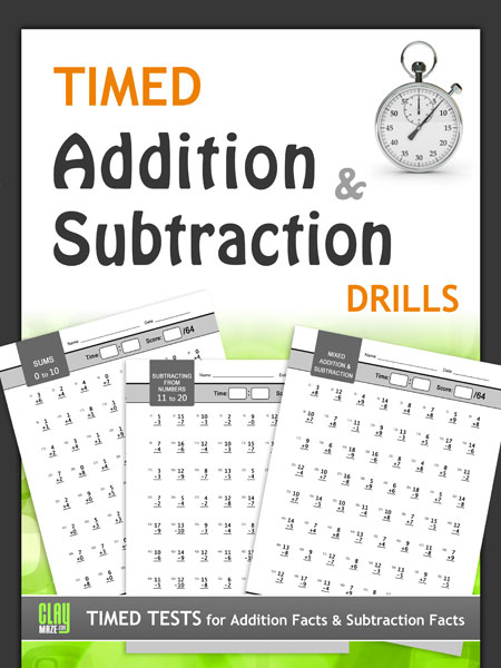 Timed Addition and Subtraction Drills Workbook