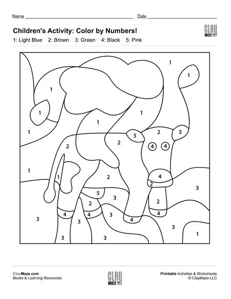 color by numbers hidden cow