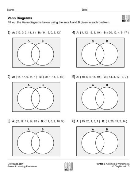 sorting numbers with venn diagrams worksheet