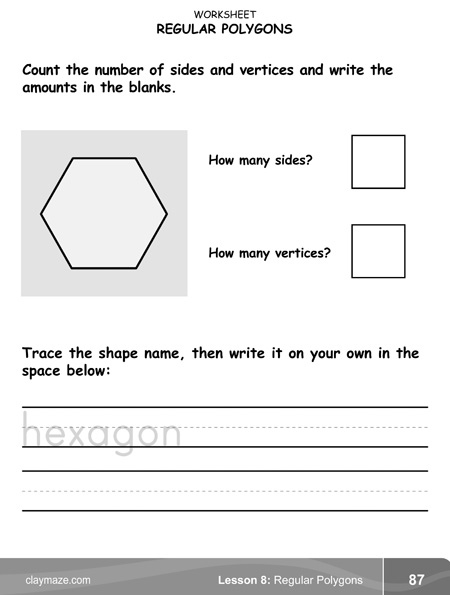 geometry hexagon worksheet