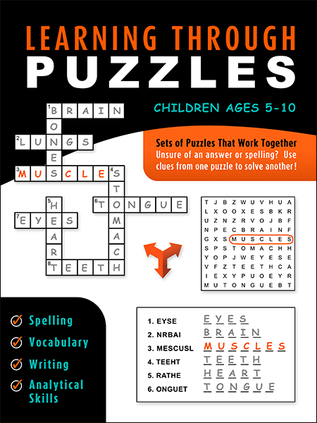 Learning Through Puzzles Children's Puzzle Book