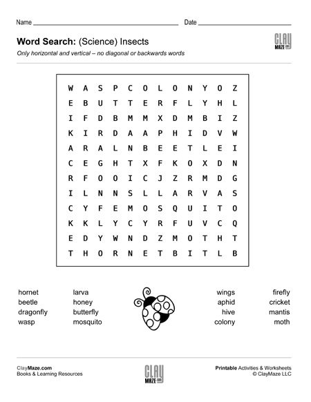 word search worksheet